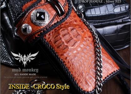 クロコダイル 財布・クラウンキャメル/インサイドクロコ/WオニキスゴシックRIDERS-10